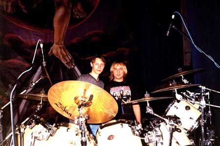 Юрик и барабанщик группы Кипелов